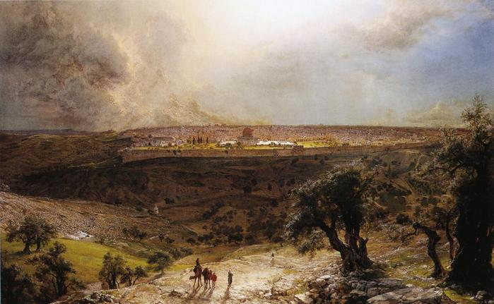 Jerusalem from the Mount of Olives - (Frederic Edwin Church - 1870.jpg (699x431, 51Kb)