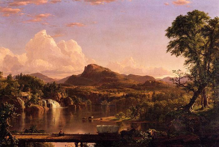 New England Scenery - (Frederic Edwin Church - 1851.jpg (700x471, 64Kb)