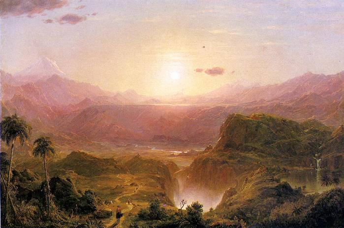 The Andes of Ecuador - (Frederic Edwin Church - circa 1876.jpg (699x463, 52Kb)