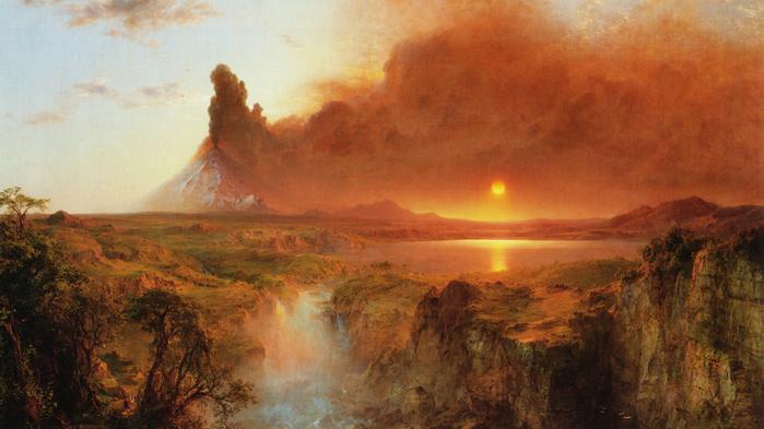 Вулкан Котопакси. Эквадор - (Frederic Edwin Church - 1862.jpg (699x393, 323Kb)