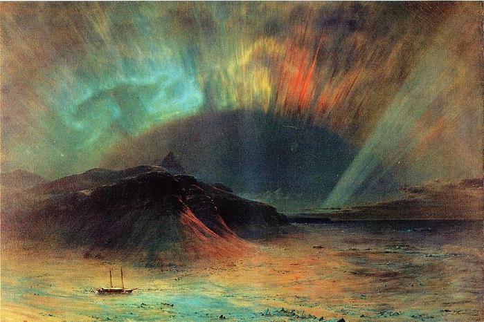 Aurora Borealis Cеверное сияние- (Frederic Edwin Church - 1865.jpg (699x466, 68Kb)