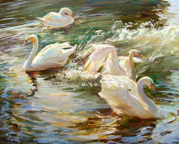 четыре лебедя Щербинина.jpg (621x500, 170Kb)