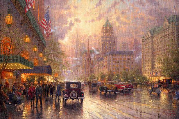 kinkade New York, Fifth Avenue.jpg (616x411, 79Kb)