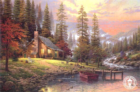 A Peaceful Retreat Kinkade.jpg (590x389, 56Kb)