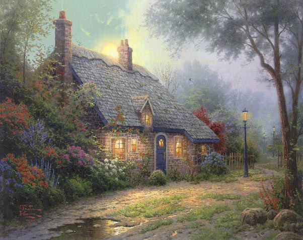 Moonlight Cottage thomas kinkade.jpg (602x477, 74Kb)