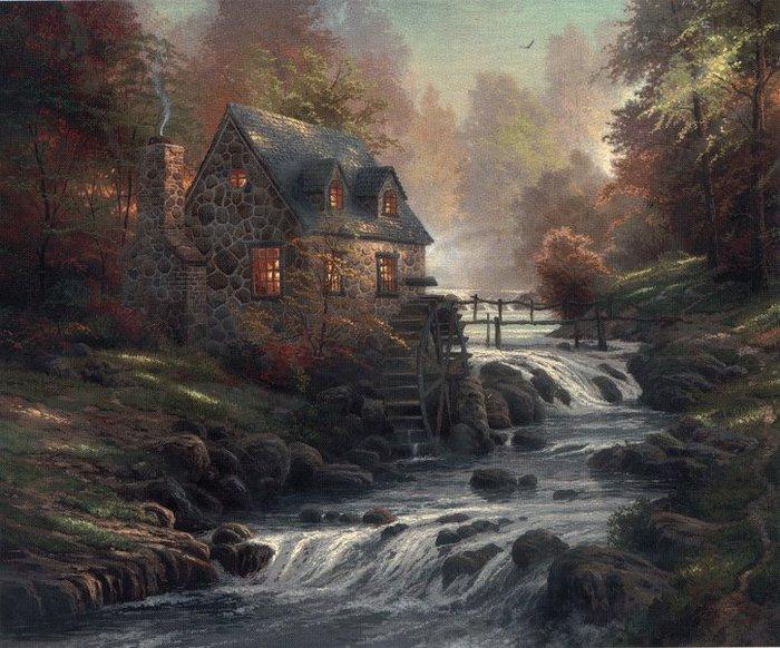 Cobblestone Mill Kinkade.jpg (700x582, 105Kb)