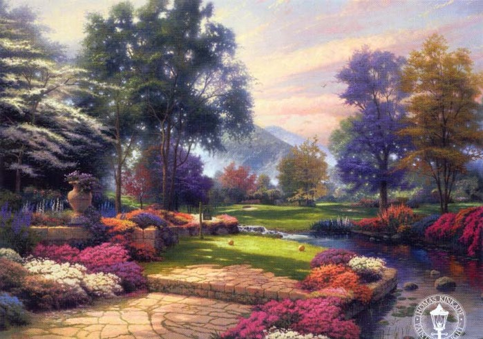 Living Waters Kinkade Thomas.jpg (699x490, 136Kb)