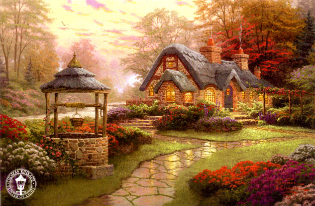 Make a Wish Cottage thomas kinkade.jpg (627x411, 91Kb)