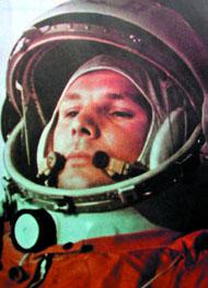 Первый космонавт планеты - Юрий Алексеевич Гагарин перед полетом. 12 апреля 1961 года