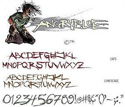 Шрифты graffiti шрифт angry blue