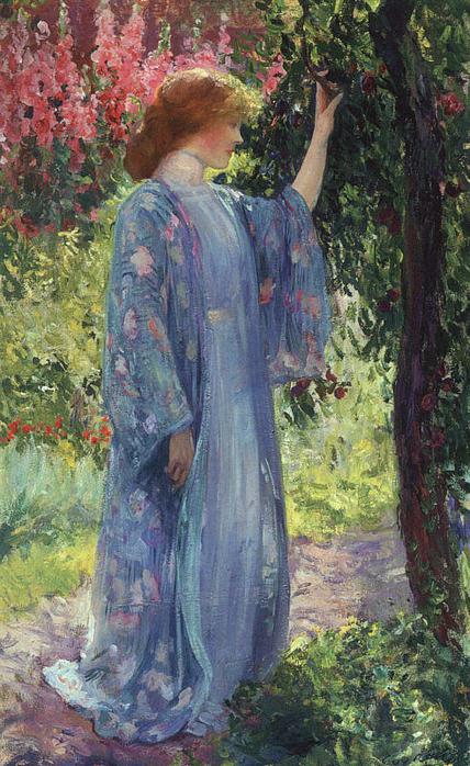 Guy Rose The Blue Kimono (428x698, 99Kb)