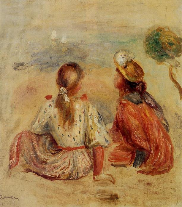 Young Girls on the Beach - (Pierre Auguste Renoir - 1898 (613x699, 81Kb)