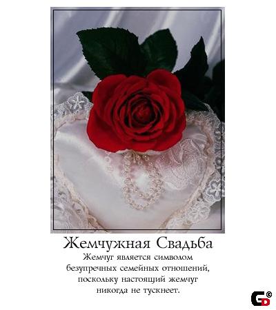 Поздравления жене с жемчужной свадьбой